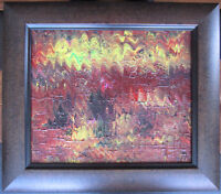 CANADIAN CONTEMPORARY ARTIST ANDREW PLUM OIL ON CANVAS SIGNED