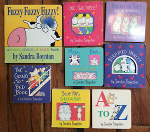 SANDRA BOYNTON Board Books $3 each or all 8 for $20