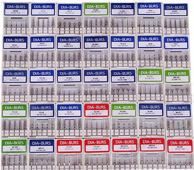 100pcs Dental Diamond Burs For High Speed Handpiece Medium Fg 1.6mm Choose Types