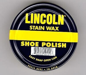 Lincoln-Stain-Wax-Shoe-Polish-All-Colors-Listed-NEW