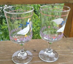 VINTAGE LIBBEY GLASS COUNTRY GOOSEY/GEESE PINK HEART G. Gatineau Ottawa / Gatineau Area image 5