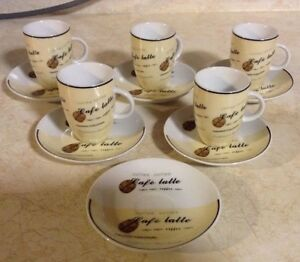 CAFE EXPRESSO SET OF 6 RARE STOKES GOURMET MADE IN PRC Gatineau Ottawa / Gatineau Area image 5