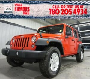 2018 Jeep Wrangler JK Unlimited Sport. Text 780-205-4934 for mor