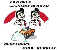Two Boys and a Snow Blower Best Choice Snow Removal