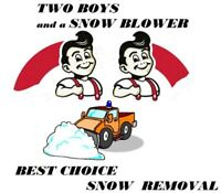 Two Boys and a Snow Blower Best Choice Halton Peel Snow Removal