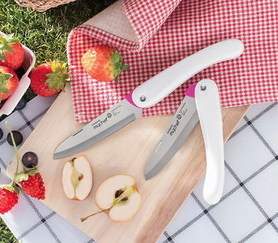[Dorco Pocket Fruit Foldable Knife Kitchen Peeler Cooking Cutlery Folding A_r
