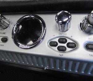 Amp., pedal, straps, cables etc.