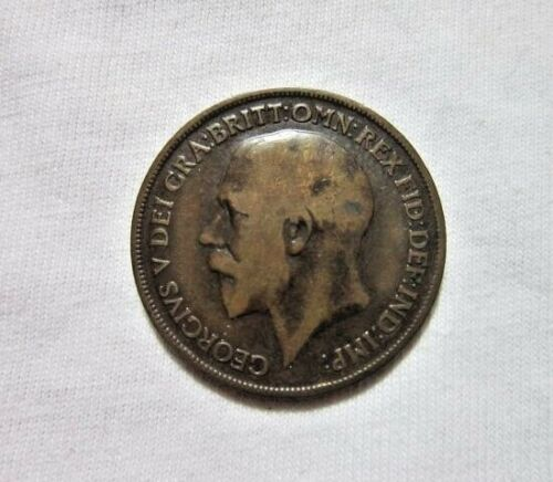 GREAT BRITAIN. 1 PENNY, 1918 H. KING GEORGE V.