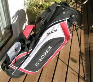 RAM G-FORCE GOLF CARRY STAND BAG Back Pack Like New