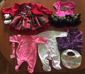 Selection of clothing 0-12months