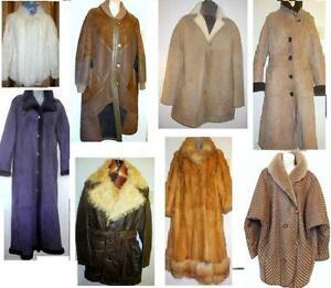 GREAT QUALITY COATS FOR SALE // SHEEPSKIN FUR WOOL BRANDS // MENS WOMENS UNISEX //LONG FUR XL PLUS SIZES QUALITY WINTER