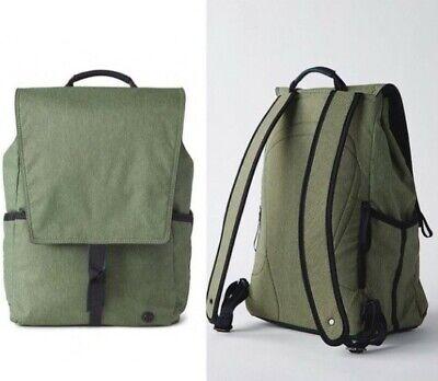 Lululemon Heathered Desert Olive Green Urbanite Backpack MINT!