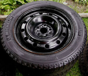 205 55 16 - MICHELIN Xi2 - SNOW TIRES on RIMS - 5x100 - TOYOTA
