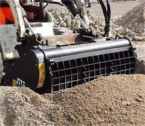 Skid steer self loading concrete cement mixer