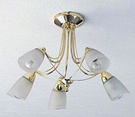 Matching Semi flush ceiling lights x 2. 1) 5 lights; 2) 3 lights