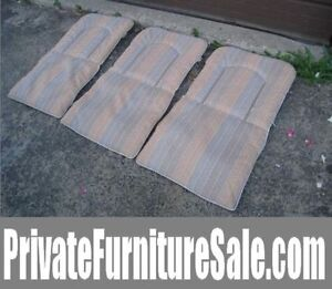 3 Patio Chair 2-side Water-resistant Cushions (Plastic material,