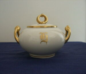 Limoges French Antique 1910s Art Nouveau Sugar Bowl+*FREE BONUS*