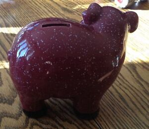 VINTAGE J & D DESIGNS PIGGY BANK. NEW BOAT FUND. SAVINGS. COIN Gatineau Ottawa / Gatineau Area image 3