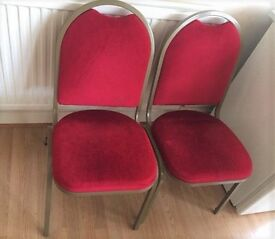 Chairs. 4 number. Red velvet and gold. for collection