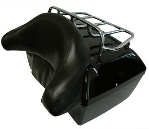 Motorcycle-Trunk-Tail-Box-w-Top-Rack-Backrest-For-Kawasaki-Vulcan-VN-Cruiser