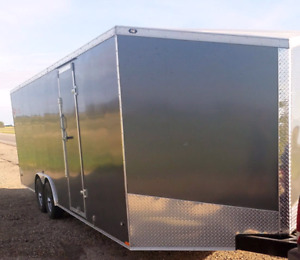 New 2018 8.5x16 18 20 24 28 32 & 7x14 16 enclosed trailers