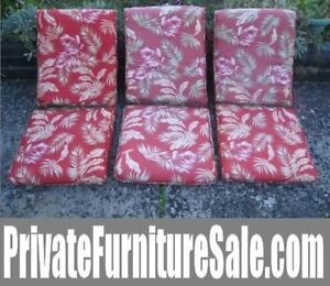3 Patio Cushions