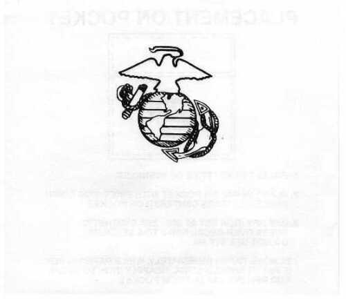 USMC Heat Transfer, Iron On, 3 Pack New Style UNICOR