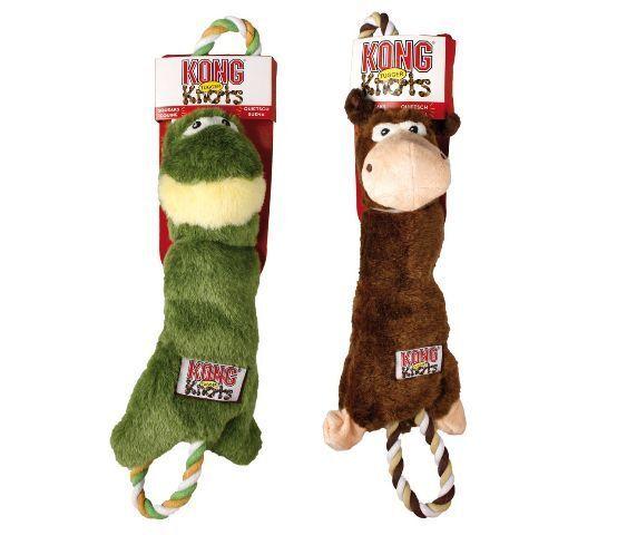 Karlie Hundespielzeug Kong Tugger Knots robust mit Quietscher 38cm