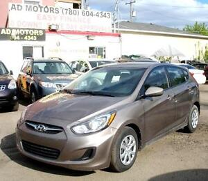 2014 HYUNDAI ACCENT HATCHBACK AUTO 49K-100% APPROVED FINANCING!!