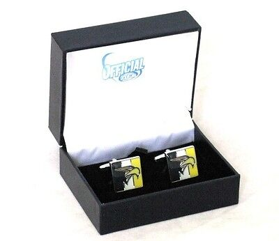 52134 WEST COAST EAGLES AFL MENS TEAM LOGO COLOUR GIFT BOX CUFF LINKS CUFFLINKS