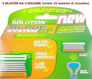 GILLETTE-FUSION-MANUAL-LAMETTE-COMPATIBILI-12-RICAMBI