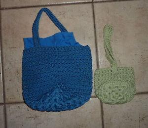 10 smaller hand crochet bags $ 2, $ 3 Kitchener / Waterloo Kitchener Area image 1