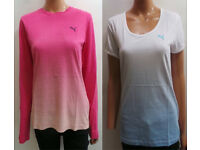 Ladies Puma T-Shirts 2 Styles Long & Short Sleeve