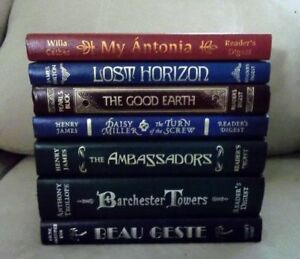 5 Leather Bound Hardcover Reader's Digest Classics
