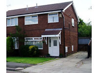Modern 3 bed semi to let in Greasby with gardens & garage
