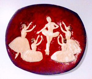 c.1958 BOSSONS Decorator Plate BALLET Antique Vtg ENGLAND