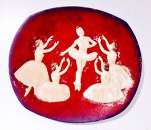 c.1958 BOSSONS Decorator Plate BALLET Art Antique Vintage