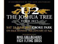 2x seated U2 tickets Dublin - £330 pair