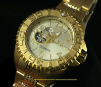 MONTRE NEUVE Invicta 18K Gold Plated Stainless Steel Open Heart