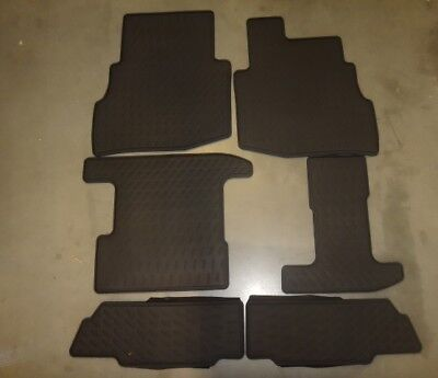 Genuine Mazda CX-9 Floor Mats Black All-Weather Rear for 2nd and 3rd rows (set o