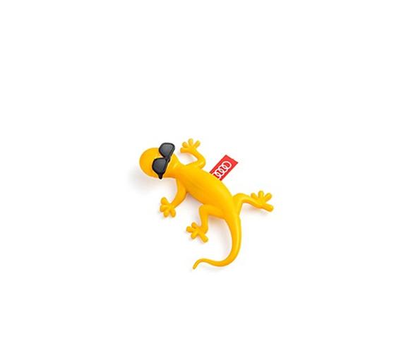 Original AUDI Gelb Gecko Lufterfrischer Mit Sonnenbrille Tropisch Früchten