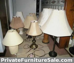 A lot of Table Lamps, $10-$45