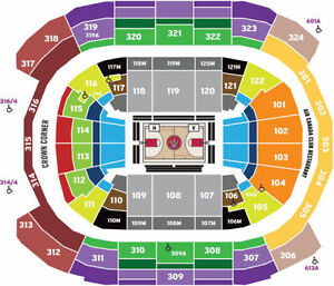 Cheap Toronto Raptors Single Game Tickets (Sec 311 and Sec 322)