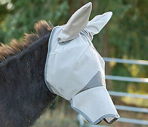New-Crusader-Fly-Mask-by-Cashel-Mule-Long-Nose-with-Ear