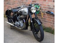 BSA - 1949 M21 Rigid rear and telescopic forks.
