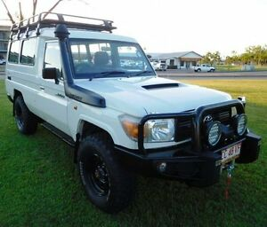 2012 Toyota Landcruiser VDJ78R MY10 Workmate Troopcarrier White 5 Speed Manual Wagon Hidden Valley Darwin City Preview
