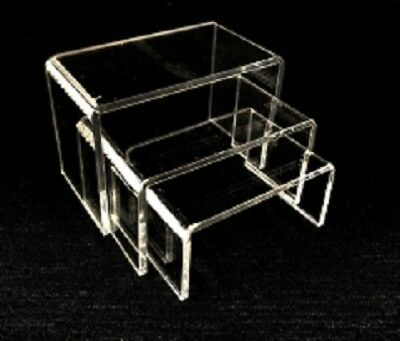 Clear Acrylic Riser Set Display Jewelry Showcase Fixtures Counter Displays 1101