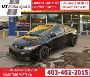 2008 Honda Civic LX| AUTO|LOW KM! | $0 DOWN - EVERYONE APPROVED!