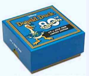 80th Anniversary of Donald Duck 1/4 oz .9999 Proof Gold Coin