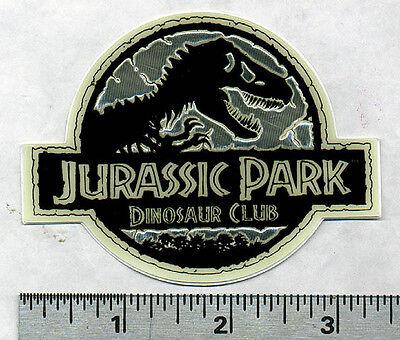 "Jurassic Park 3 1/2"" by 2 "" Glow in the Dark T Rex Dinosaur Club Patch Sticker"